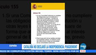 Sin diálogo se declarará independencia de Cataluña, advierte Puigdemont