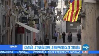 Continúa la tensión sobre la independencia de Cataluña