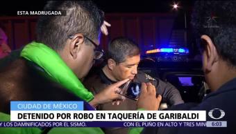 Detiene a asaltantes de clientes en puesto de tacos en Garibaldi