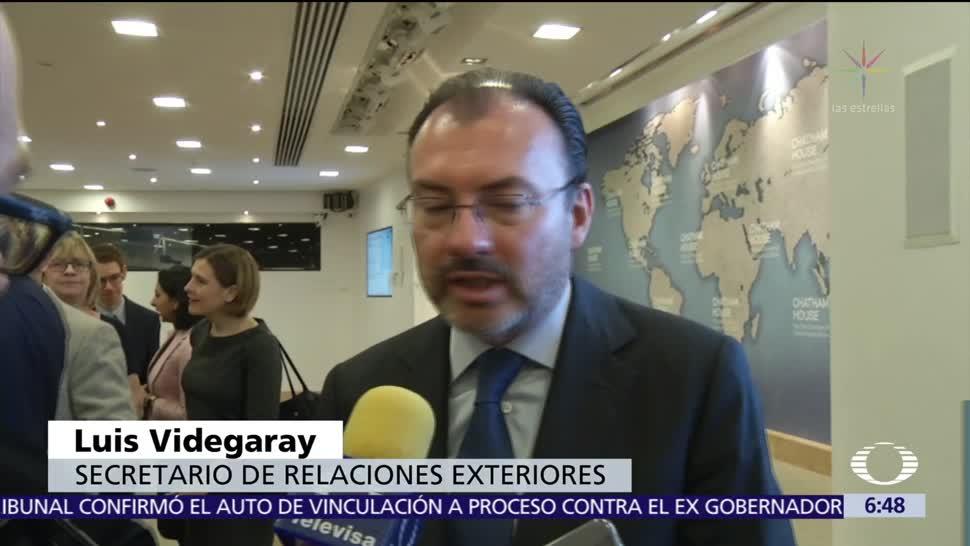 Videgaray afirma que las negociaciones del TLCAN son prioridad número 1