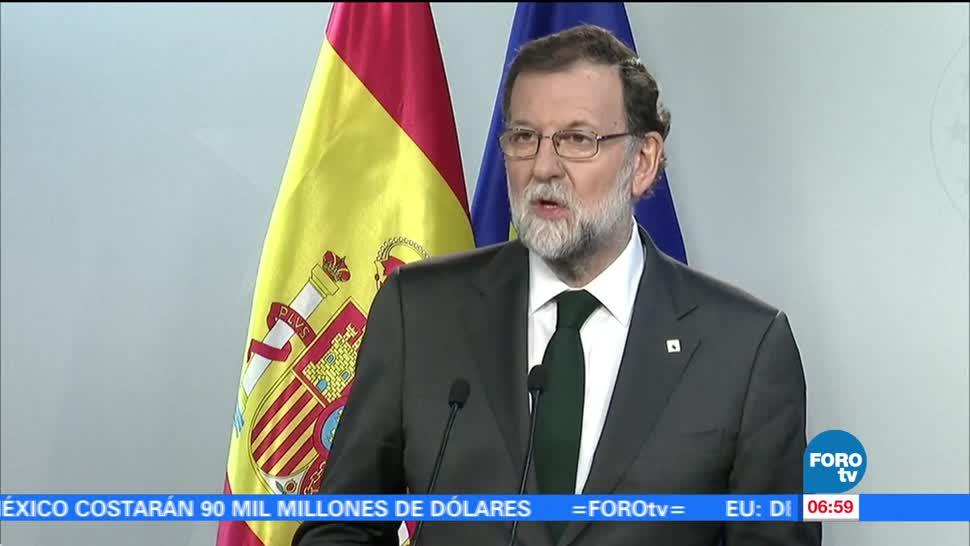 Mariano Rajoy: Cataluña deberá regresar a la vida constitucional