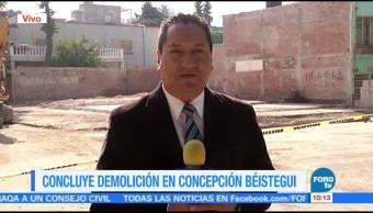 ConcluyConcluye demolición concepción Béistegui tras sismo en CDMXe demolición concepción Béistegui tras sismo en CDMX