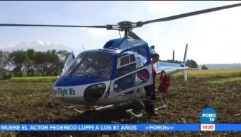 México sobre Ruedas: Helicóptero presta servicio médico