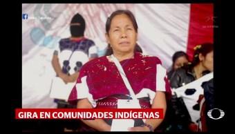'Marichuy' realiza gira en comunidades indígenas