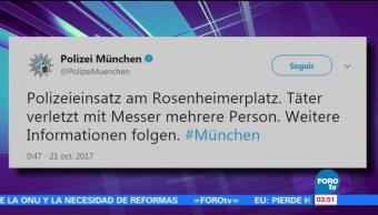 Ataque con cuchillo en Múnich deja varios heridos