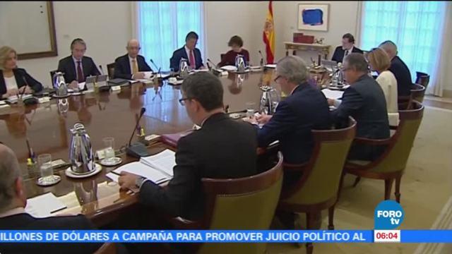 Gobierno español inicia reunión de gabinete de crisis en Cataluña