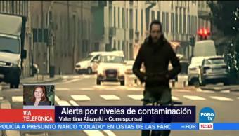Alerta por niveles de contaminación en Italia