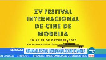 Inicia la décima quinta edición del Festival Internacional de cine de Morelia