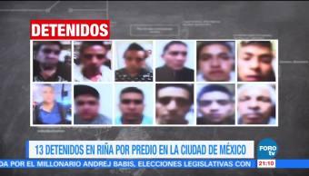 SSPCDMX detiene a 13 personas por causar disturbios en un predio