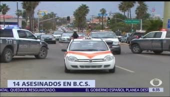 Reportan 14 asesinatos en Baja California Sur, en un fin de semana