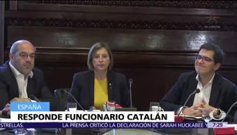 Consejero de Cataluña advierte que 'no seguirán órdenes de Madrid'