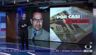 Detienen al secretario de Finanzas del gobierno de Fausto Vallejo