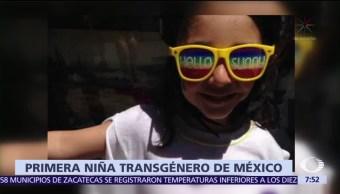 Sophia es la primera niña transgénero mexicana que no pasa por juicio