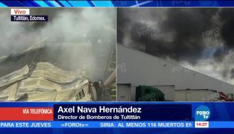 Incendio Inmueble Tultitlán Lesionado Dentro Fábrica Destilados