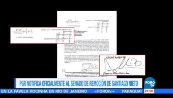 Santiago Nieto pide a senadores pronunciarse sobre su remoción de la Fepade