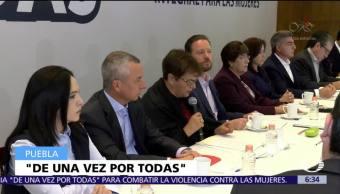 Puebla activa 'De una vez por todas' para erradicar violencia contra mujeres