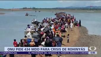 ONU pide 434 mdd para solventar gastos de la misión que apoya a rohinyás