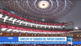 Concluye Congreso del Partido Comunista de China