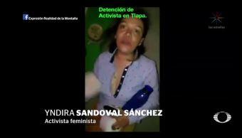 Controversia por acusación de activista a policías de Tlapa