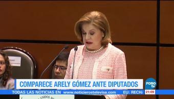 Comparece Arely Gómez ante diputados