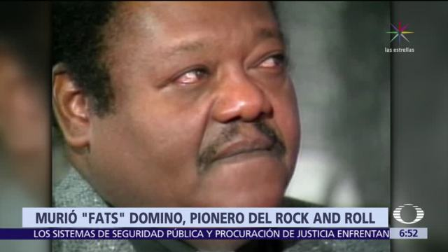 Muere Antoine 'Fats' Domino, pionero del rock and roll