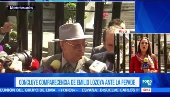Concluye comparecencia de Emilio Lozoya ante la fepade