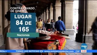México mejora en el ranking antilavado
