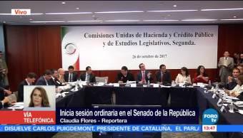 Inicia sesión ordinaria en el Senado de la República