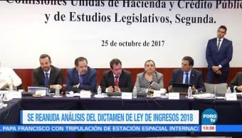 Análisis del dictamen de la Ley de Ingresos