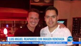 Luis Miguel reaparece con imagen renovada