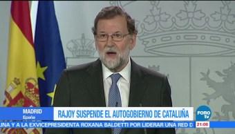 Rajoy suspende el autogobierno de Cataluña