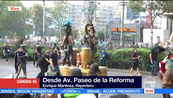 Arranca desfile del Día de Muertos en Paseo de la Reforma