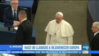 Papa Francisco llama a rejuvenecer Europa