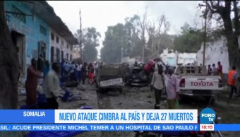 Suman 27 muertos en Somalia tras ataque a un hotel