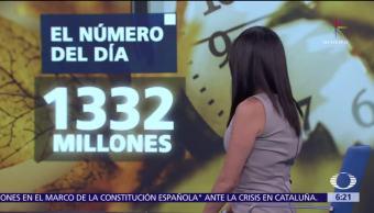 El número del día: 1332