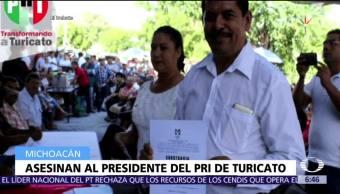 Asesinan al líder del PRI en Turicato, Michoacán