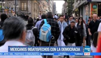 Mexicanos insatisfechos con la democracia
