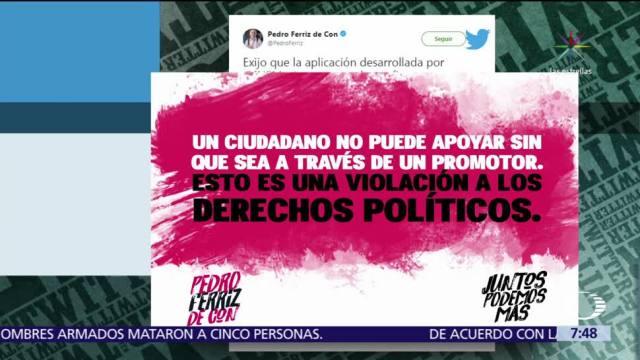 Pedro Ferriz de Con también se queja de la aplicación de recolección de firmas