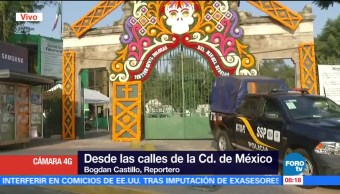 Policía capitalina realiza operativo en panteones de la CDMX