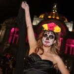 cientos catrinas desfilan ciudad mexico