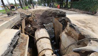 Concluye reparación de acueducto Xochimilco por afectación tras sismo