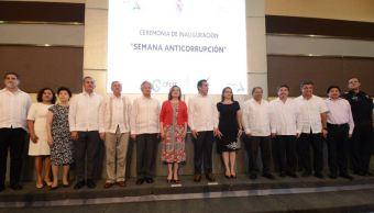 Titular de la SFP inaugura Semana Anticorrupción en Campeche