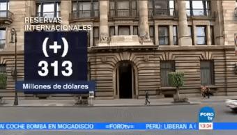 Aumentan 313 Mdp Reservas Internacionales Banxico