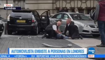 Automovilista Embiste Personas Londres Corresponsal Horacio Rocha