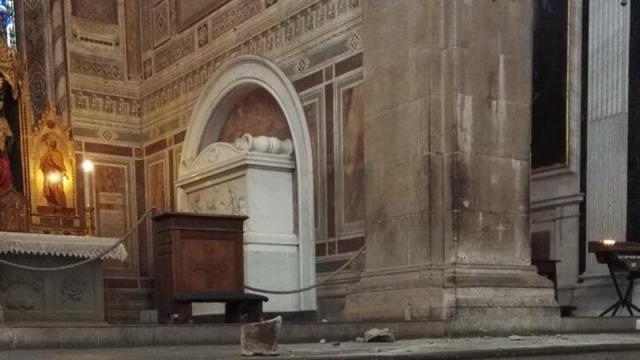 Basílica de Santa Cruz donde murió turista español