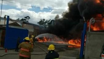 incendio tutitlan deja lesionado y 34 desalojados