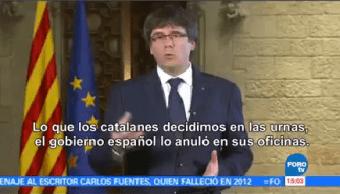Carles Puigdemont Rechaza Medidas Anunciadas Mariano Rajoy