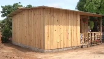 construyen casas antisismicas damnificados chiapas