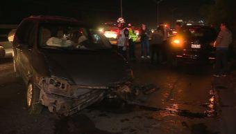 Choque múltiple en carretera Laredo deja seis autos dañados
