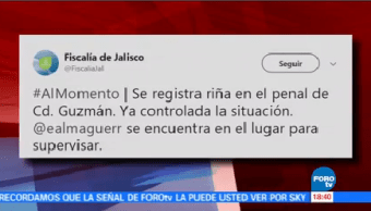 Controlan Riña Penal Cd Guzmán Jalisco Autoridades